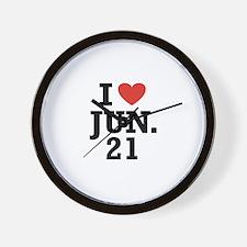 I Heart June 21 Wall Clock