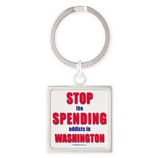 StopSpending Square Keychain