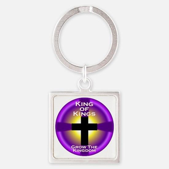 K of K Grow the Kingdom CIRCLE Square Keychain