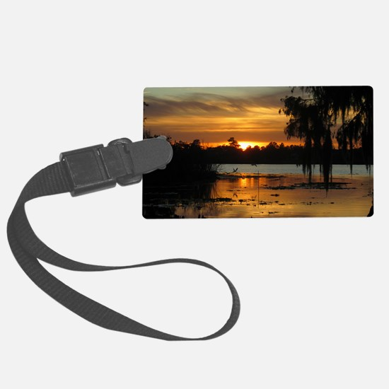Lowcountry Sunset Luggage Tag