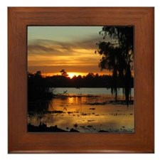 Lowcountry Sunset Framed Tile