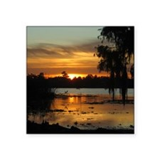 "Lowcountry Sunset Square Sticker 3"" x 3"""