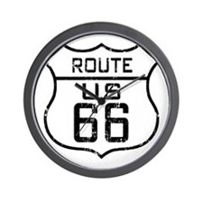 Route66_Distressed Wall Clock