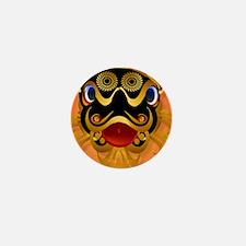 mens wallet Black n Gold Chinese Drago Mini Button