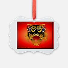 CalenderBlack n Gold Chinese Drag Ornament
