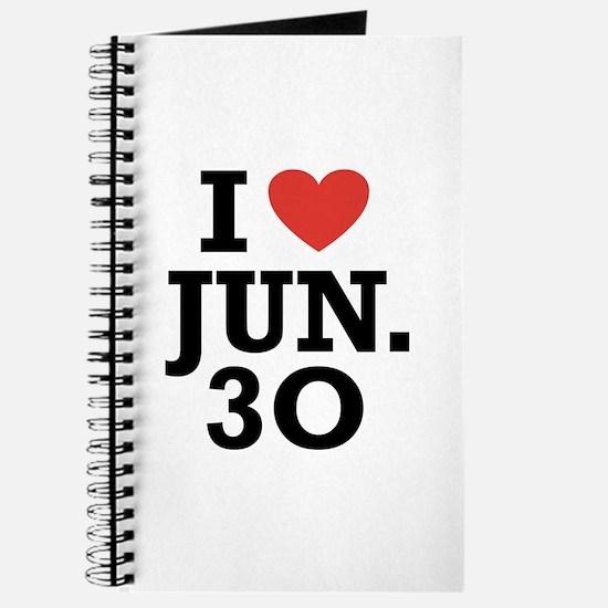 I Heart June 30 Journal