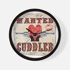 wanted_cuddler Wall Clock