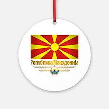 Macedonia (Flag 10) Round Ornament