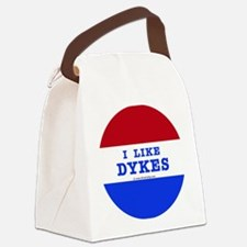 I Like Dykes Button Canvas Lunch Bag
