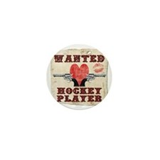 wanted_hockey_player Mini Button