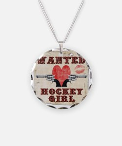 wanted_hockey_girl Necklace