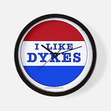 I Like Dykes Wall Clock