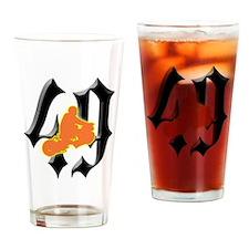 RuckRider49-2 Drinking Glass