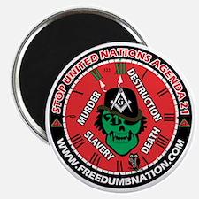StopAgenda21FreeDumbNation Magnet