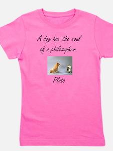 dog philosher Girl's Tee