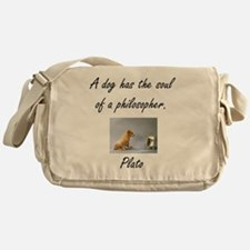dog philosher Messenger Bag