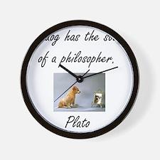 dog philosher Wall Clock