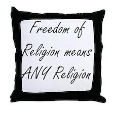 freedom of religion Throw Pillow