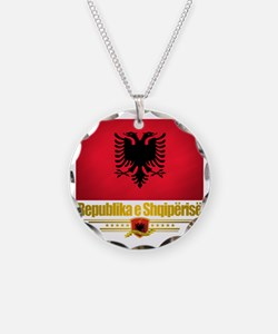 Albania (Flag 10) 2 Necklace