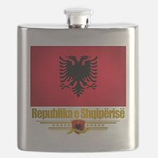 Albania (Flag 10) 2 Flask