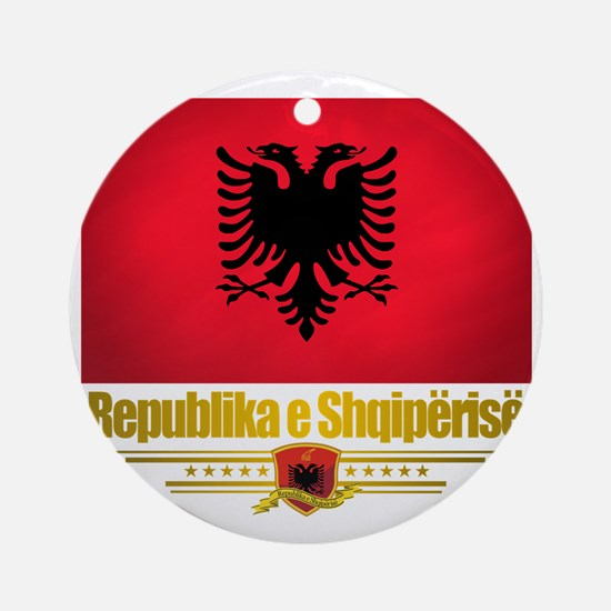 Albania (Flag 10) 2 Round Ornament