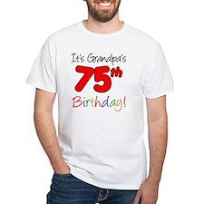 Its Grandpas 75th Birthday Shirt
