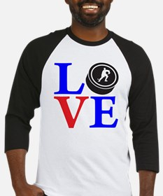 red  blue2, Hockey LOVE Baseball Jersey
