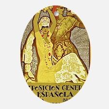 Spanish Flamenco Oval Ornament