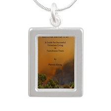 Book Cover test Silver Portrait Necklace