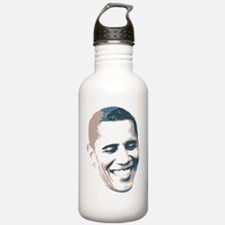 2012ObamaFaceButton Sports Water Bottle