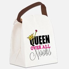 queen over all noobs Canvas Lunch Bag