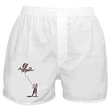 Dragon Kite on White Boxer Shorts