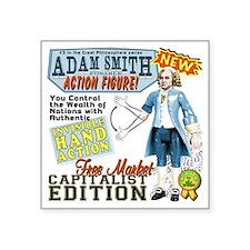"AdamSmithHand Square Sticker 3"" x 3"""