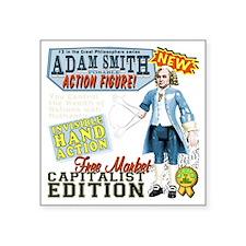 """AdamSmithHand_dark Square Sticker 3"""" x 3"""""""