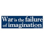 War Failure of Imagination Bumper Sticker