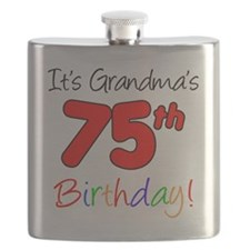 Its Grandmas 75th Birthday Flask