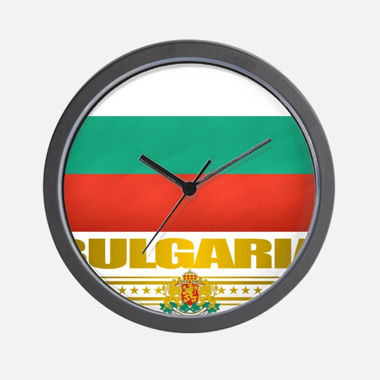 Bulgaria (Flag 10) Wall Clock