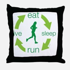 eatF Throw Pillow