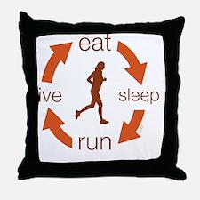 eatFo Throw Pillow