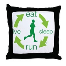 eatM Throw Pillow