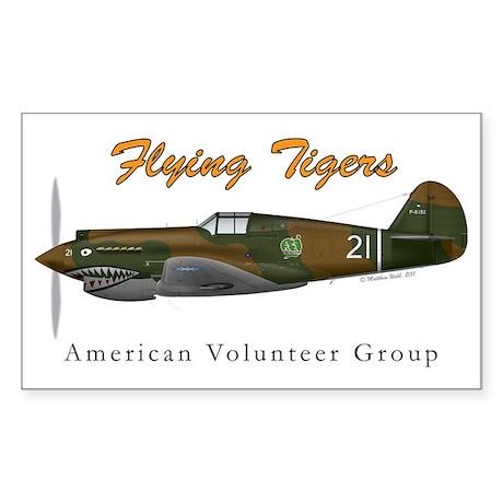 P-40B_AVGshirt Sticker (Rectangle)