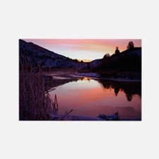 Sunrise on the river,Rectangle Magnet