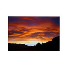 Sunset over water, Rectangle Magnet