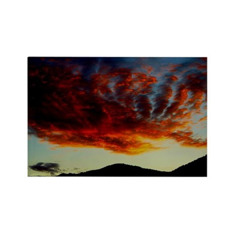 Fire in the Sky sunset,Rectangle Magnet