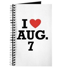 I Heart August 7 Journal