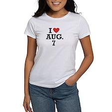 I Heart August 7 Tee