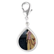 DICKENS CHARACTER Silver Teardrop Charm