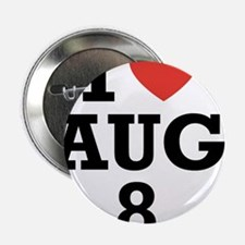 "I Heart August 8 2.25"" Button (100 pack)"