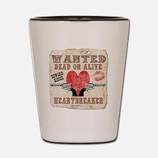 wanted_heartbreaker Shot Glass