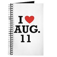 I Heart August 11 Journal